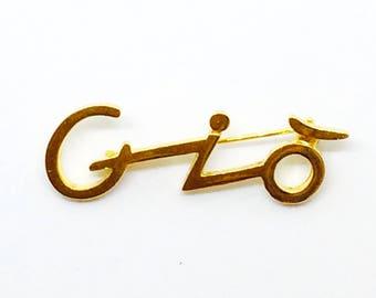 Brooch Armani / Logo of creator / brooch GIO