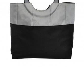The silver handbag