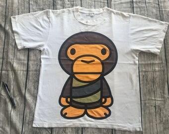 Vintage BAPE A BATHING ape baby milo star wars army made in japan sz m tee shirt