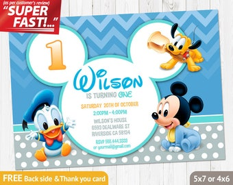 baby mickey invitations birthday