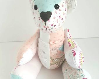 Memory bear, baby clothes bear. Custom made keepsake teddy bear. Keepsake bear, keepsake teddy, keepsake memory bear. Memory teddy bears