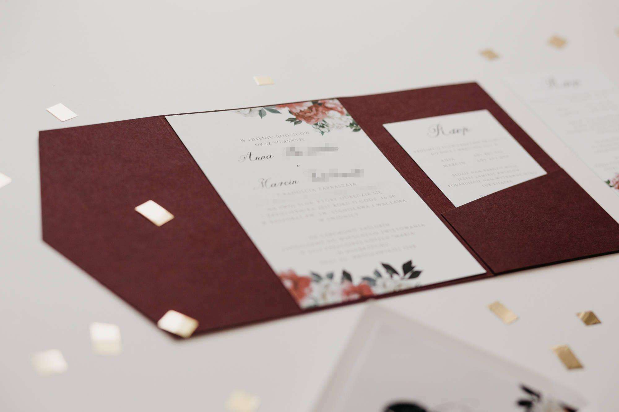 Attractive Wedding Invitations Burgundy Gallery - Invitations Design ...