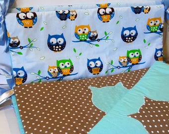 "Crib bumpers. Bumpers. Crib set. Set for newborn. Crib bumpers ""Little owls"""