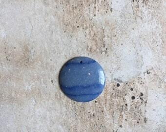 Blue Dragon Vein Agate Pendant