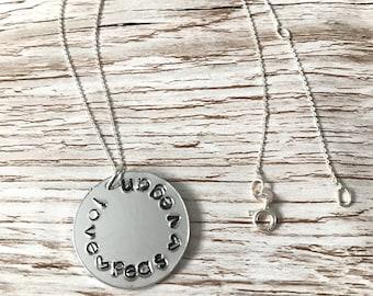 Love Peas Vegan necklace - perfect imperfection