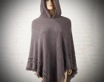 Angmar Shawl/Renaissance Hooded Cloak/Medieval Cape/Viking Cloak/Attire Clothing/Knitted Woven Tassel Cape/Renaissance Cape/The Kingdom