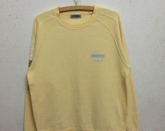 Vintage 90's Converse Sweatshirts Small Logo Yellow