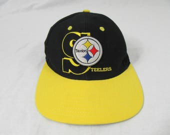 Vintage 90's Pittsburgh Steelers Annco Hat Cap Snapback NFL Football 412
