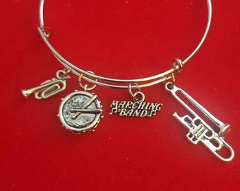 Silver Marching Band Charm Bracelet