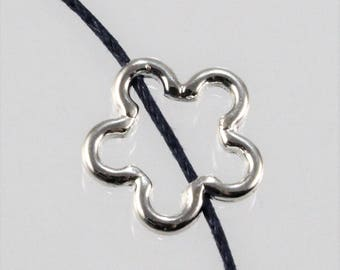 Silver Plated Pewter Flower Bead