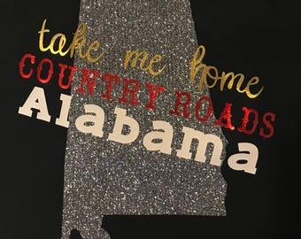 Take Me Home Country Roads Alabama Matching Set, Mommy and Me Shirts, Take Me Home, Alabama, Adult Shirt, Kids Shirt, Country Roads,Matching
