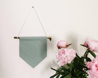 CUSTOM Handmade Mini Wall Banner In Mint Green // Wall hanging // Wall Art // Custom Gift