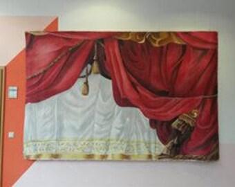 Theatre curtain velvet and silk
