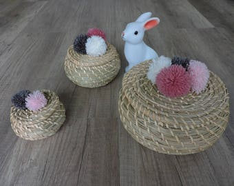 Baskets with lids, starfish Bangle and tassels