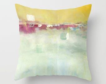 Abstract Art Decorative Throw Pillow, WITH insert and zipper, design on both sides, FREE Shipping