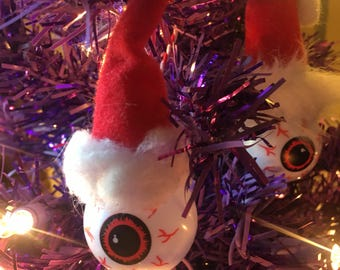 Santa Eyeball Ornament