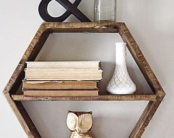 Handmade Hexagon Shelf