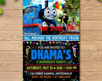 Thomas The Train,Thomas The Train Birthday Invitations,Thomas The Train Birthday,Thomas The Train Invitation,Thomas The Train Invites