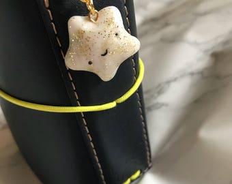 White star charm / handmade / polymer clay charms / keyring charms / planner charms / handbag charm / cell phone charms / charm bracelet