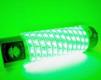 Green Blob-7500 w/ Cig. Lighter Plug Adapter Underwater Fishing Light (7500 Lumens)