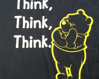Winnie the Pooh Disney Think Think Think Shirt