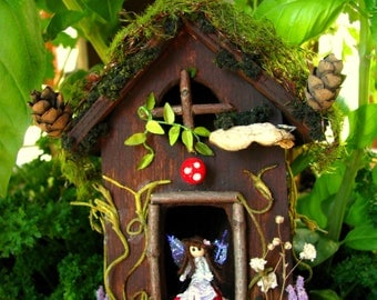 Fairy Home-Fairy House-Gnome Home-Fairy-Fairies-OOAK