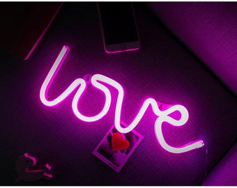 Romantic Unique Love Neon Sign