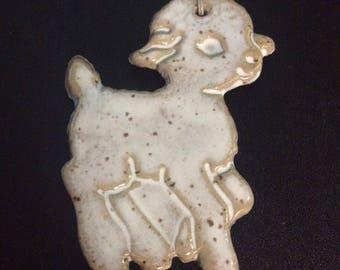 Ceramic Lamb Ornament