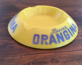 French advertising ashtray Orangina 1960 soft drink ashtray