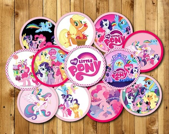 My little Pony Cupcake Birthday, My little Pony Cupcake topper, Cupcake topper for My little Pony Birthday, Party Cupcake topper | PO_CIRCEL