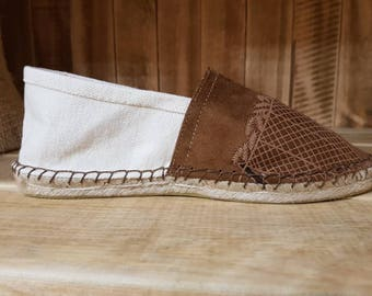 EGYPTIAN LEATHER ESPADRILLES