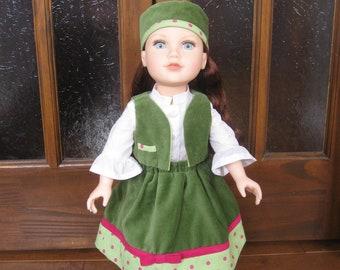 "skirt, blouse, bolero and hat for 18 ""Doll"