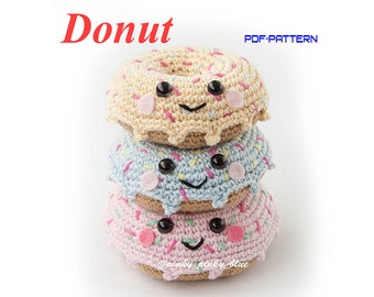 Crocheted Donut PDF pattern