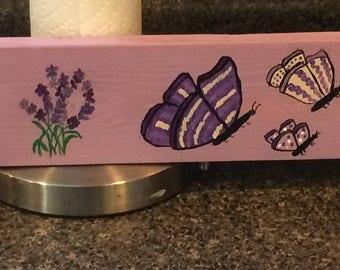 Lavender Flowered Towel Rack