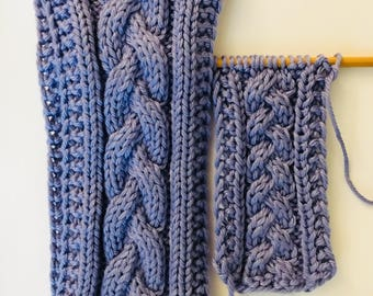 Set of 2: Hydrangea Purple Braided Earwarmer