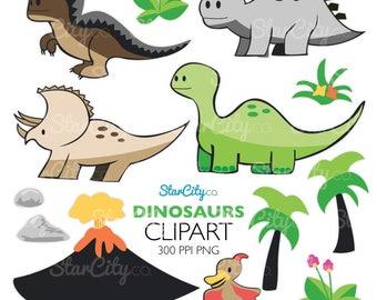 Dinosaur clipart, Dinosaur Clip Art, Dino Graphics, Prehistoric clipart, Dino art, Cute Clipart, Commercial Use, instant download