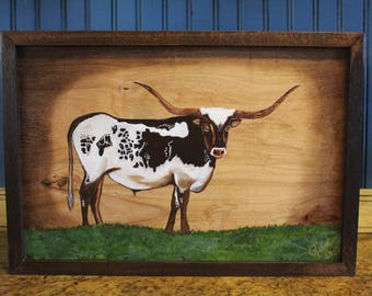 Out of Stock...Longhorn Steer With Frame
