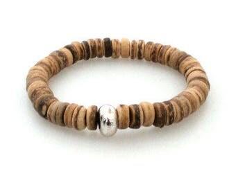 Mens bracelet coconut bead