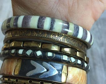 Vintage brass bangles
