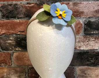 Felt Pansy headband crown