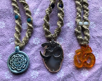 Ohm Hemp Necklaces