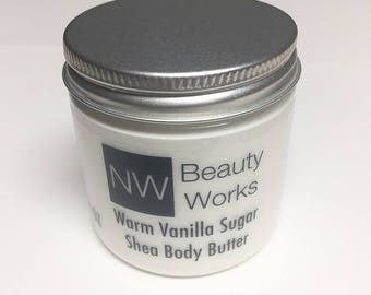 Warm Vanilla Sugar Shea Butter | Moisturizing Lotion | 4 oz | For ALL Skin Types!