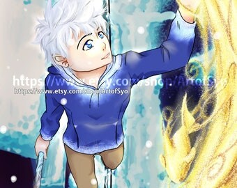 11x17 Jack Frost Rise of the Guardians Anime Poster