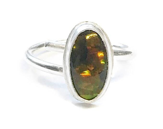 Australian Boulder Opal Adjustable Ring