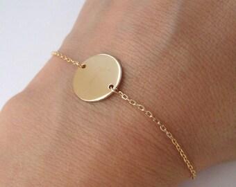 Bracelet gold plated round pastille 750/000 18 k
