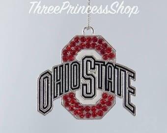 Ohio State University Buckeyes - Bubblegum Bead Pendant