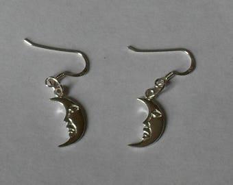 Moon Earrings,Silver Moon Earrings,Crescent Moon Earrings Jewelry,Sterling Silver Moon Earrings