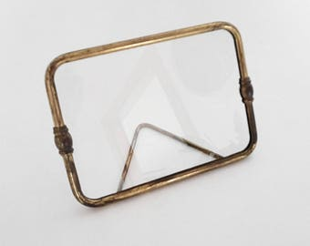 Brass rectangle photo frame. Vintage