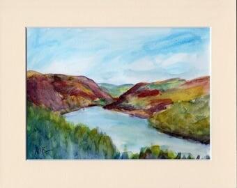 Original Watercolour Painting:  Elan Valley