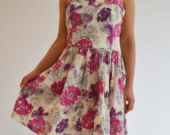 Midi floral dress pattern flowers printed
